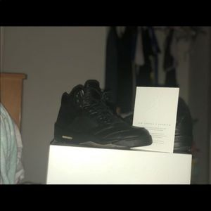 Jordan 5 Black premium leather